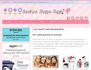 sunshineshoppeblog.com screenshot