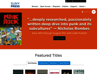 sunypress.edu screenshot