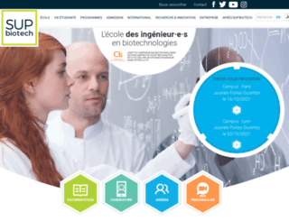 supbiotech.fr screenshot