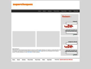 supercheques.in screenshot