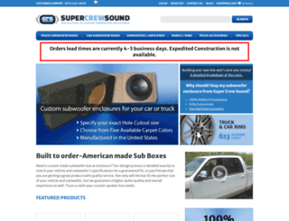 supercrewsound.com screenshot