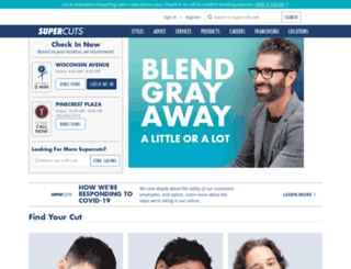 supercuts.regiscorp.com screenshot