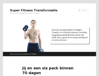 superfitnesstransformatie.nl screenshot