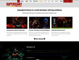 supergiantgames.com screenshot