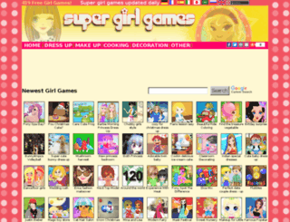 supergirlgames.net screenshot