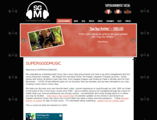 supergoodmusic.com screenshot