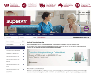 superiorhealthcare.com.au screenshot