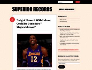 superiorrecords.wordpress.com screenshot