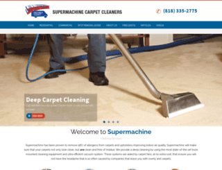 supermachinecarpetcleaners.com screenshot