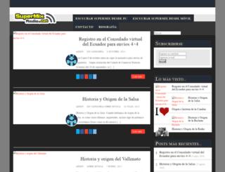 supermixradio.net screenshot