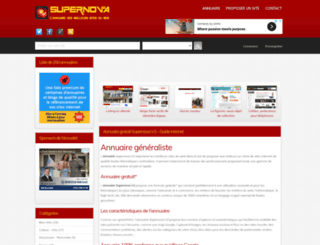 supernova-annuaire.com screenshot