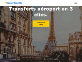 supershuttle.fr screenshot