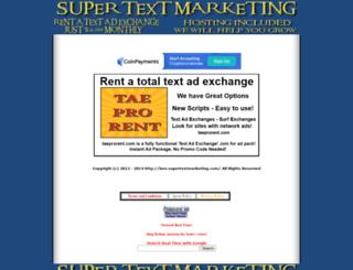 supertextmarketing.com screenshot