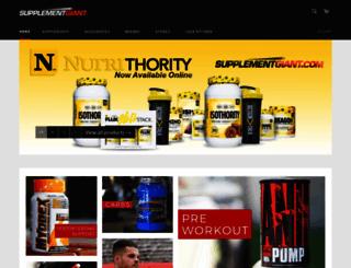 supplementgiant.com screenshot