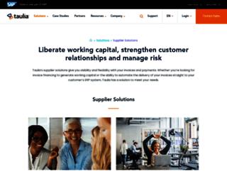 supplier.taulia.com screenshot