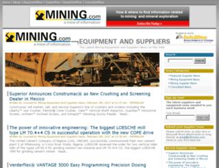 suppliersandequipment.mining.com screenshot