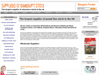 suppliersofbankruptstock.co.uk screenshot
