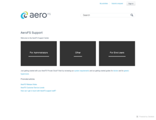 support.aerofs.com screenshot