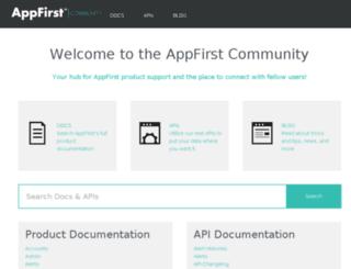 support.appfirst.com screenshot