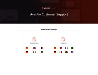 support.avantio.com screenshot