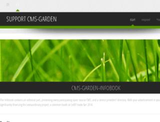 support.cms-garden.org screenshot