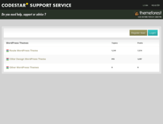 support.codestarlive.com screenshot