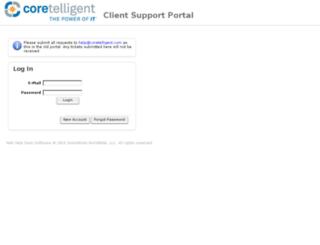 support.coretelligent.com screenshot