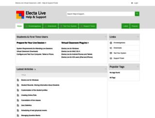 support.e-lecta.com screenshot