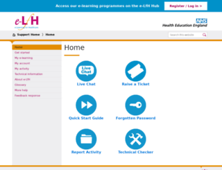 support.e-lfh.org.uk screenshot