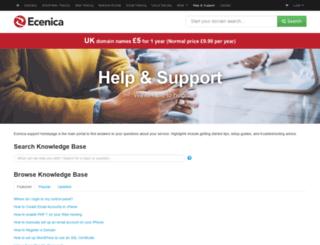 support.ecenica.com screenshot