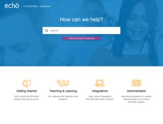 support.echo360.com screenshot
