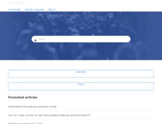 support.empowr.com screenshot