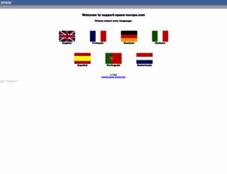 support.epson-europe.com screenshot