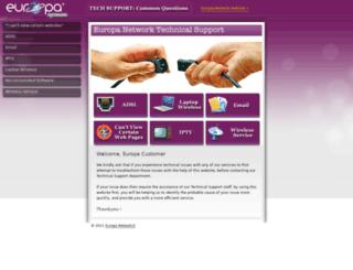 support.europa-network.com screenshot