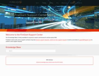 support.firegiant.com screenshot