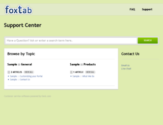 support.foxtab.com screenshot