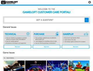 support.gameloft.com screenshot