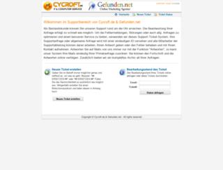support.gefunden.net screenshot