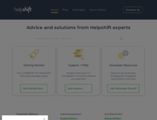 support.helpshift.com screenshot