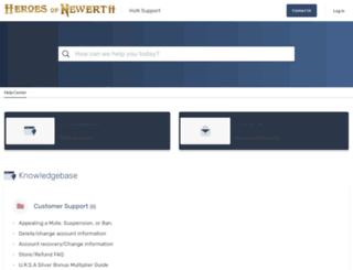 support.heroesofnewerth.com screenshot