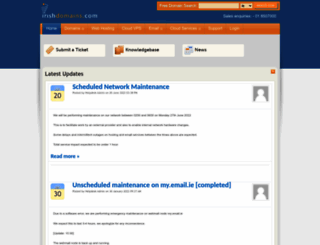 support.irishdomains.com screenshot