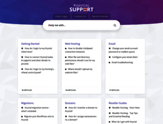 support.krystal.co.uk screenshot