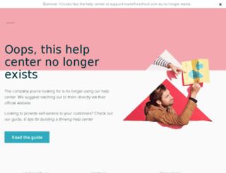 support.madeforschool.com.au screenshot