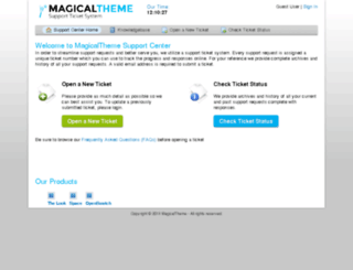 support.magicaltheme.com screenshot