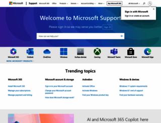 support.microsoft.com screenshot
