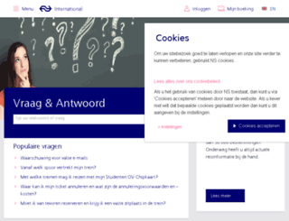 support.nsinternational.nl screenshot