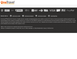 Access support.onetravel.com. OneTravel Toll Free Customer ... Onetravel