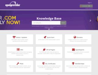 support.openprovider.eu screenshot