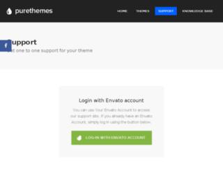 support.purethemes.net screenshot