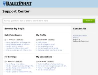 support.rallypoint.com screenshot